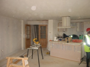 Interior of my apartment in Gunwharf Quays being built